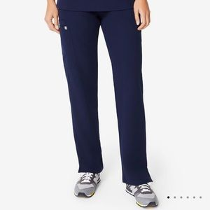 FIGS Kade Navy Blue Tall Cargo Scrub Pants